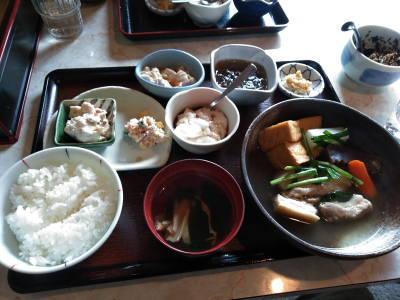 奄美大島島豆腐高野塩豚の煮物定食