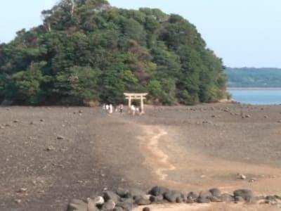 小島神社干潮風景