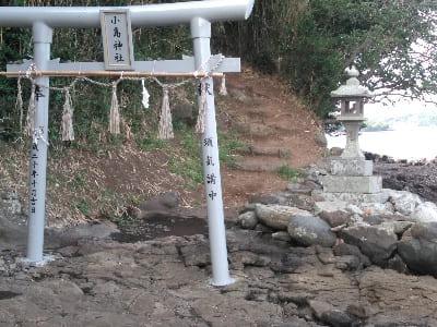 小島神社の入り口の鳥居