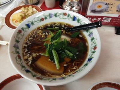 何故か不味い福岡県餃子李の醬油ラーメン