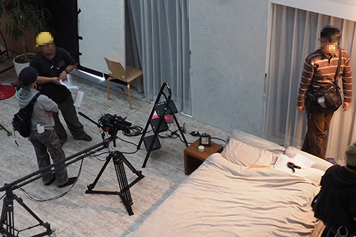 AV撮影現場
