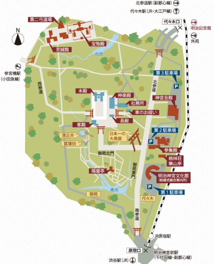 明治神宮MAP