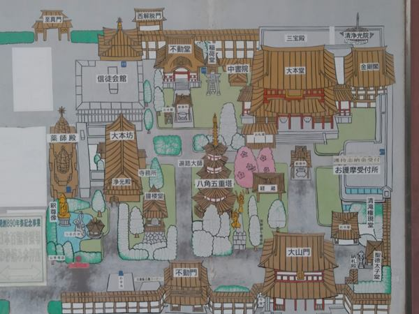 川崎大師境内map