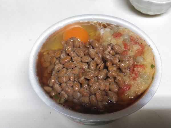 2019/10/15朝食緑のたぬき