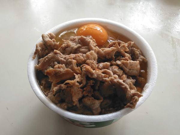 2019/10/18朝食肉天玉納豆蕎麦