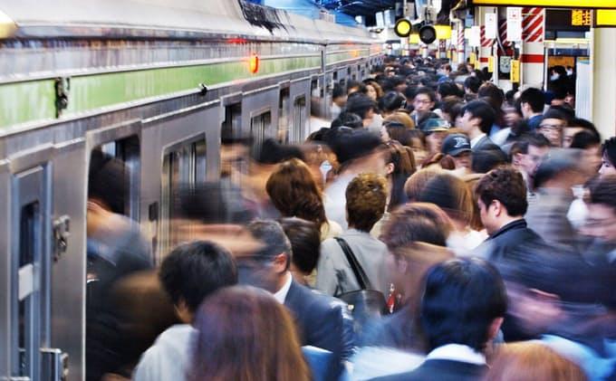 東京の電車は滅茶苦茶混む
