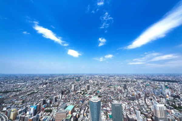 東京都は3大都市の中で一番空気が綺麗