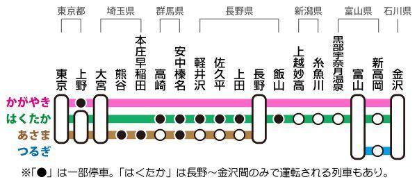 北陸新幹線停車駅