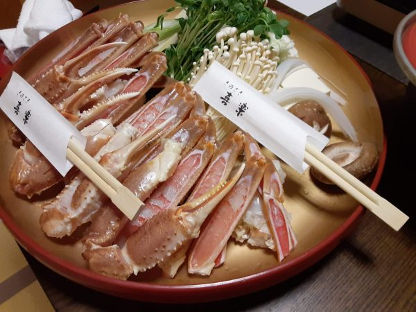 城崎温泉喜楽のカニ鍋