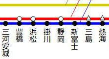 三河安城熱海新幹線路線図